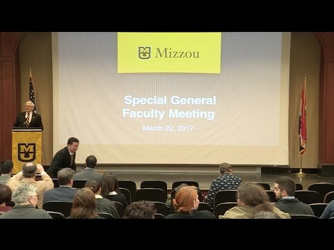 Special General Faculty Meeting, March 22, 2017
