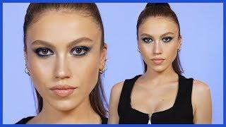 Kim Kardashian Makyajı | Mavi Dumanlı Gözler