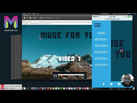 Responsive One Page Scrolling Menu | Adobe Muse CC | Muse For You