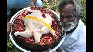 Pallipalayam Chicken Prepared by my Daddy Arumugam In my village / Village food factory