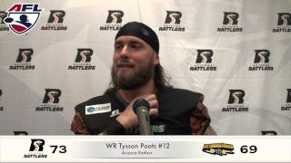 4-19-14 Arizona Rattlers Post Game, Davila & Poots