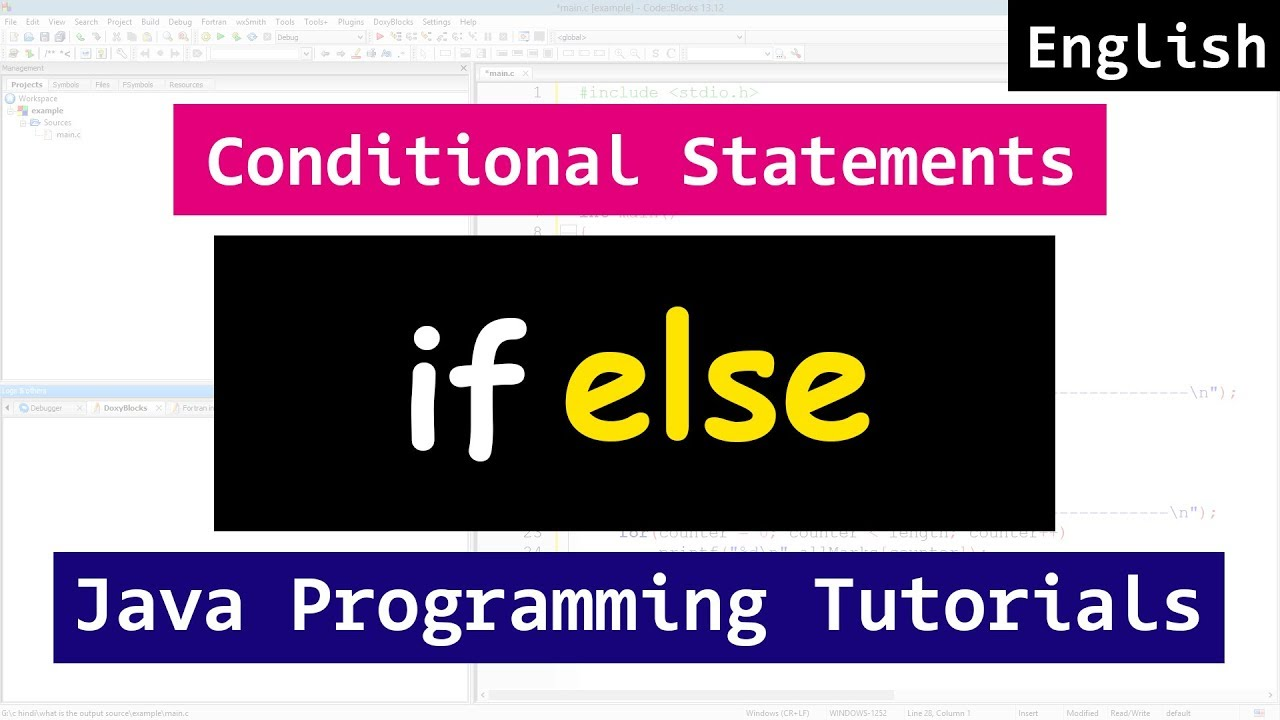 If else conditional statements java video tutorial for beginners if else conditional statements java video tutorial for beginners baditri Gallery