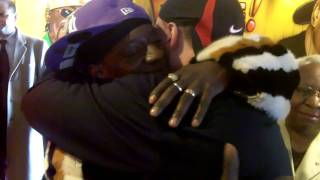 Flavor Flav Arrives At His First Flav's Fried Chicken In Clinton