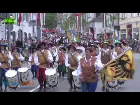"""Kinder- und Heimatfest 2017 unterhalb der Tribüne, kommentiert vom Laupheimer Peter """"Morri"""" Rieger"""
