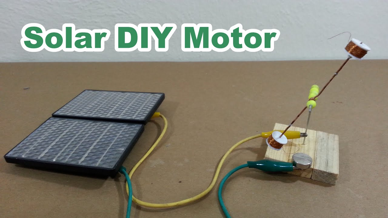 Solar Homemade Electric Motor Youtube
