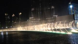 Dubai Fountains Burj Khalifa - Choreographed on All Night Long by Lionel Richie