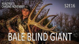"160"" Buck from Bale Blind, Kansas Bowhunting | Chasing November S2E16"