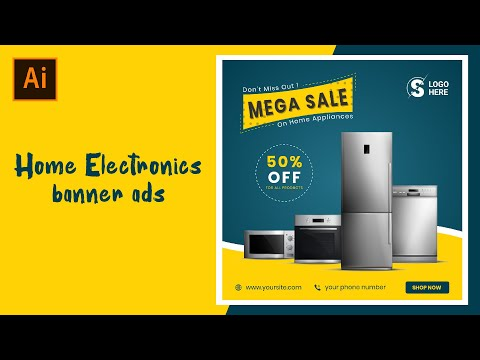 Home Electronics Banner Ads Banner Ads Adobe Illustrator Tutorials Youtube
