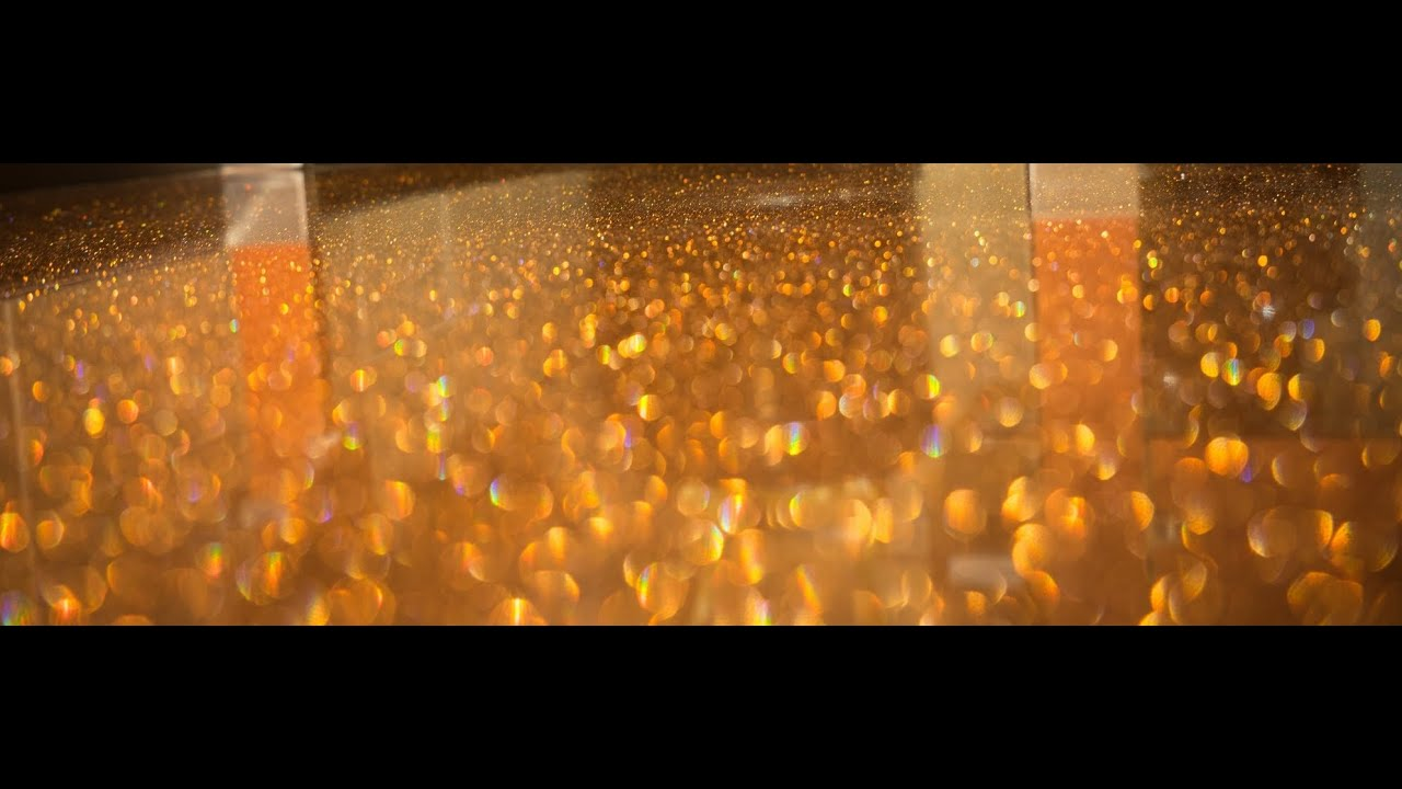 DIY Metallic Epoxy Floor Application Orange Glitter