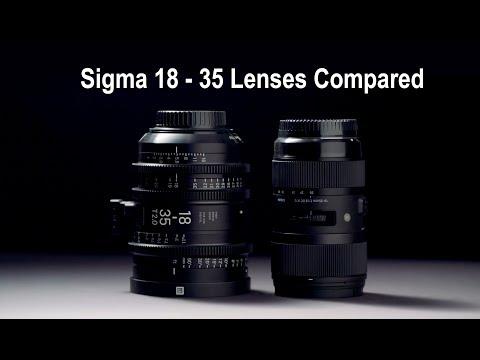 Sigma 18 - 35mm Art lens vs Cinema lens
