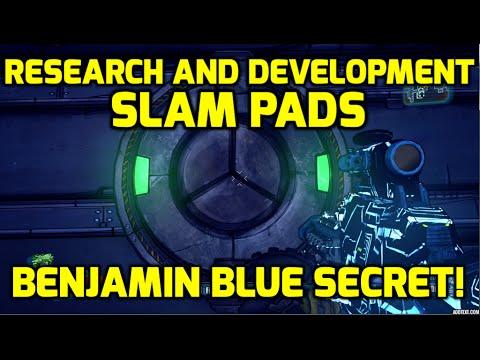 Borderlands: The Pre-Sequel Research and Development Slam Pads Secret - BENJAMIN BLUE!