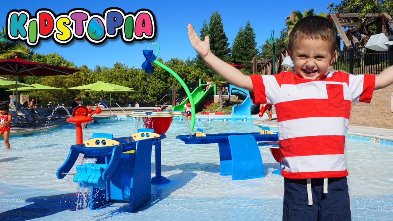outdoor family fun trip to gilroy gardens water park for kids youtube