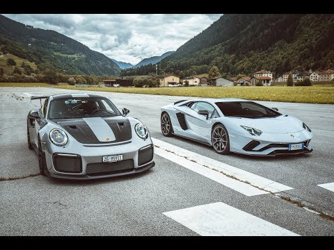 DRAG RACE! Porsche GT2 RS vs Lamborghini Aventador S!