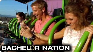 Sean And AshLee Have Six Flags Theme Park Date | The Bachelor US
