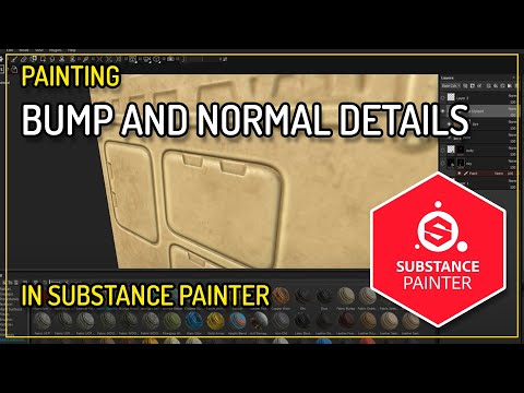 Substance Painter: Paint Normal/Bump Detail on a low poly model
