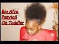 TODDLER NATURAL HAIR: Big Afro Ponytail