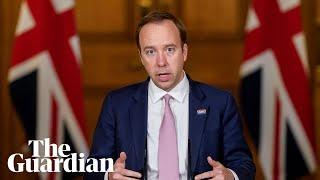 Coronavirus: Matt Hancock holds daily UK briefing to update on outbreak – watch live