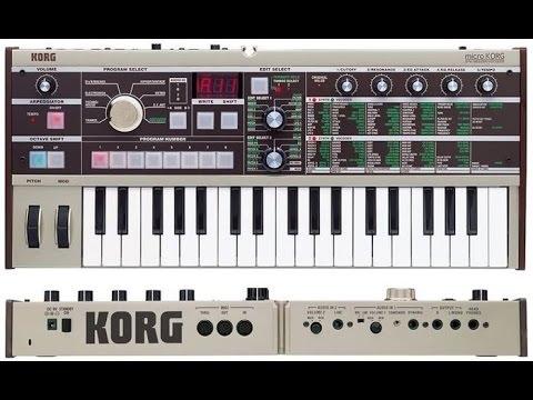 Korg Microkorg - Vocoder demo, DAW recording