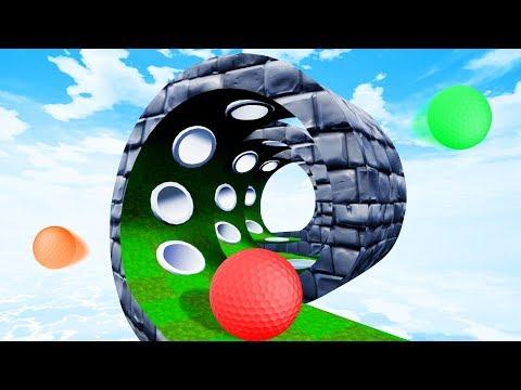 Impossible TROLL SPIRAL Skill Test! - Golf It