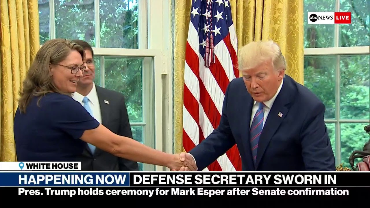Mark Esper sworn in as US defense secretary