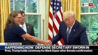 Trump's defense secretary pick Mark Esper swearing-in ceremony   ABC News