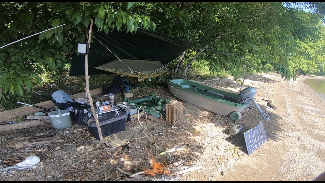 Catch and Cook and Building tarp base and Packrafting【 2 nights 3 days 】