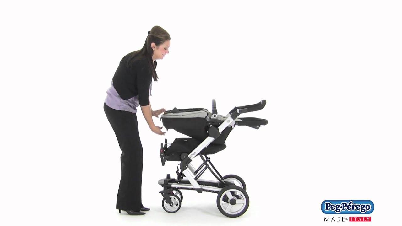 2011 Stroller System Peg Perego Skate System How to Fold with Jumper Seat Attached