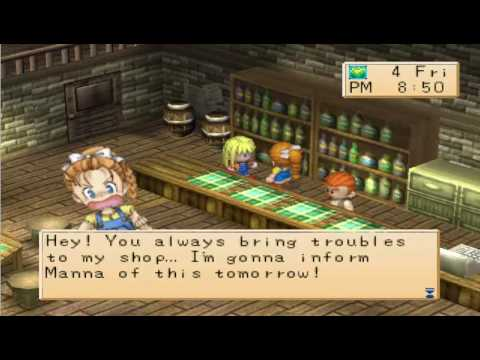 Harvest Moon Back to Nature Girl - Kai and the villagers