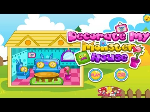 decorate my monster house house decorating game for girls mafa games - House Decorating Games
