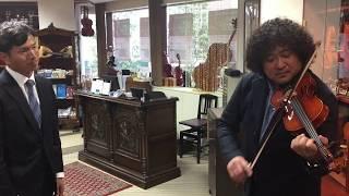 葉加瀬太郎校長がレンタル用のヴァイオリンに触れてみた!
