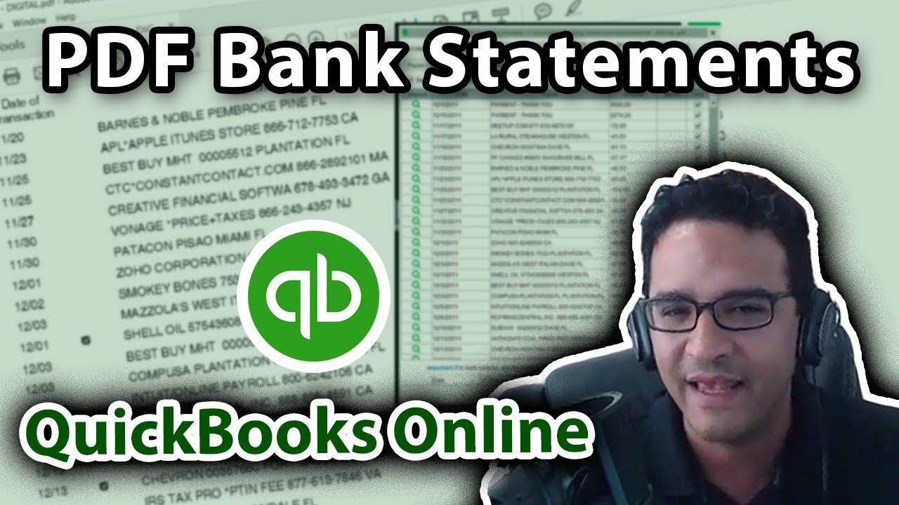 Import PDF Bank Statements into QuickBooks Online