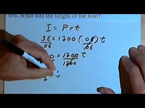 simple interest finding principal rate or time 141 27 youtube