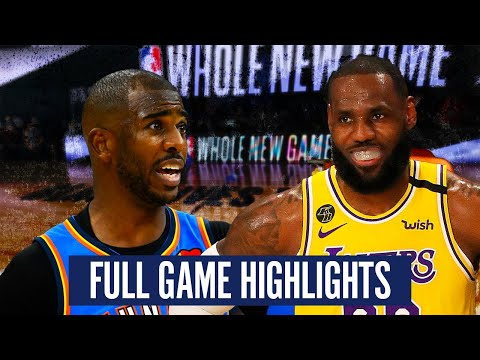OKC THUNDER VS LA LAKERS - FULL GAME HIGHLIGHTS | 2019-20 NBA SEASON