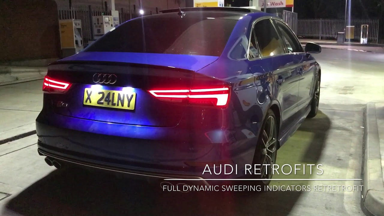 2015 Audi S3 Saloon With Facelift Dynamic Sweeping Tail Lights - YouTube
