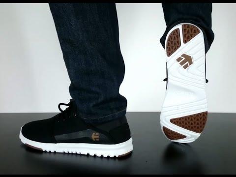 Etnies Dory Skate Shoes Black White Gold