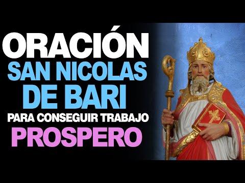 🙏 Oración a San Nicolás de Bari para CONSEGUIR UN TRABAJO PRÓSPERO 💼