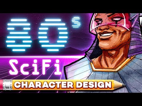 80's SciFi Egyptian - Character Design Session!