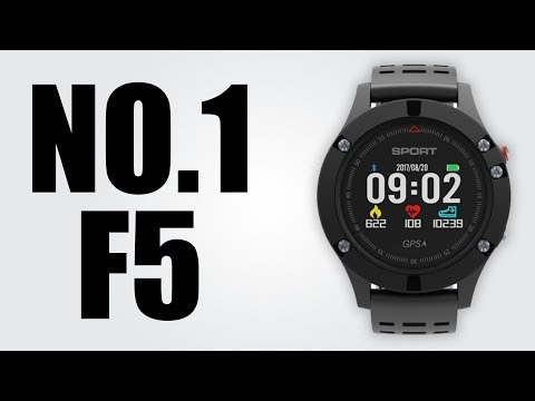 NO.1 F5 - GPS /  Heart Rate Monitor / Real-time Temperature and Altitude Measure /  Sleep Monitor