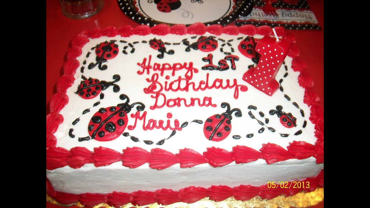 Donna Maries 1st Birthday Party Ladybug Theme Youtube