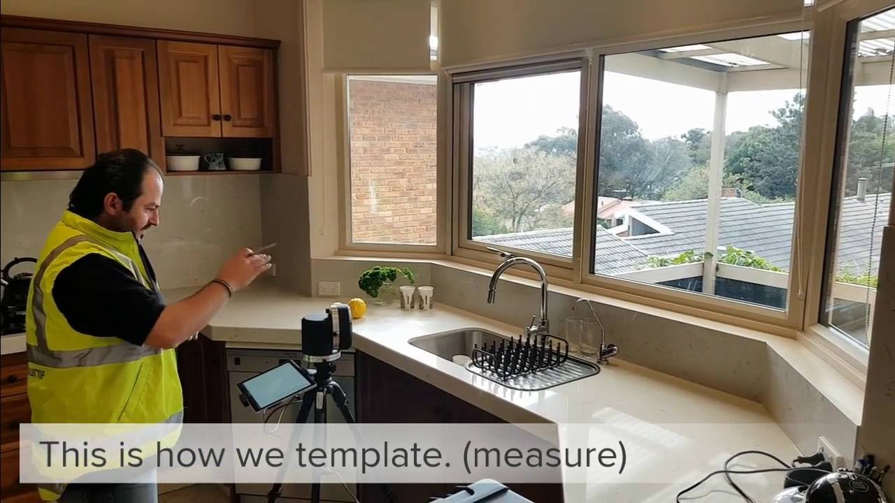 United Stone Melbourne This Is How We Template Your Benchtops Splashbacks Etc Youtube