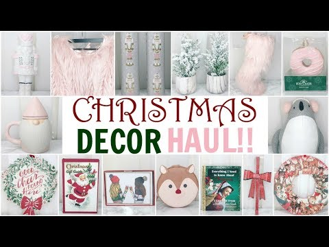 MY BIGGEST CHRISTMAS DECOR HAUL! ♡ HomeGoods, TJ Maxx, Marshalls, World Market & Kate Spade ♡ 2017