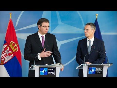 NATO Secretary General with Prime Minister of Serbia, 23 NOV 2016