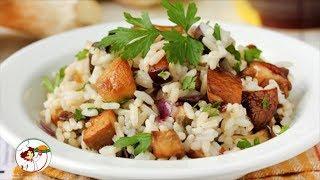 Рис с грибами. Вкусно и быстро. Пошаговый рецепт.