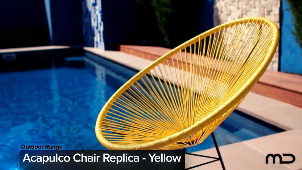 Acapulco Lounge Chair Replica Outdoor Wicker Yellow