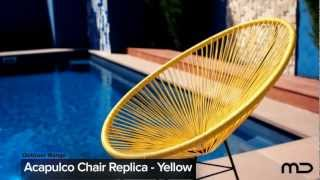 Acapulco Lounge Chair Replica - Outdoor Wicker - Yellow -  Milan Direct Uk