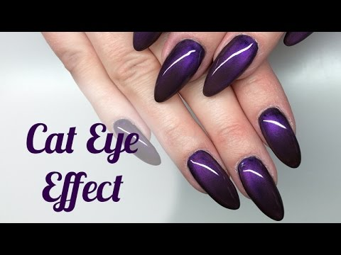Cat Eye Effect Nails Tutorial