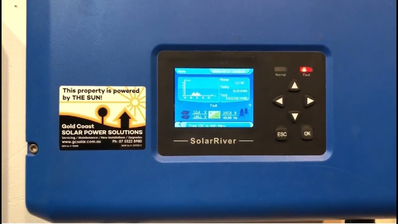 Samil Solar River Inverter PV Isolation Fault