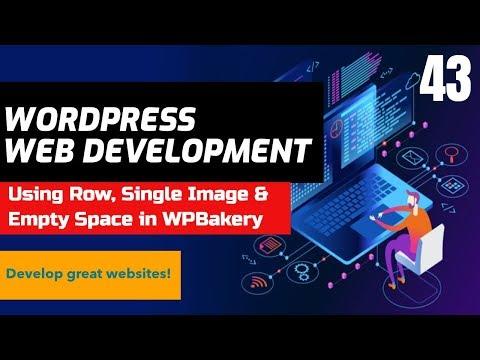 Using Row, Single Image & Empty Space In WPBakery Plugin - WordPress