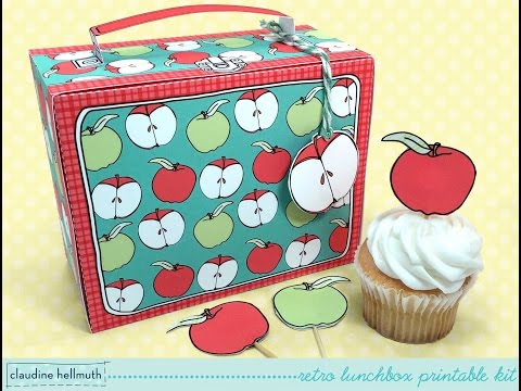 make a retro school lunchbox cupcake & favor box kit