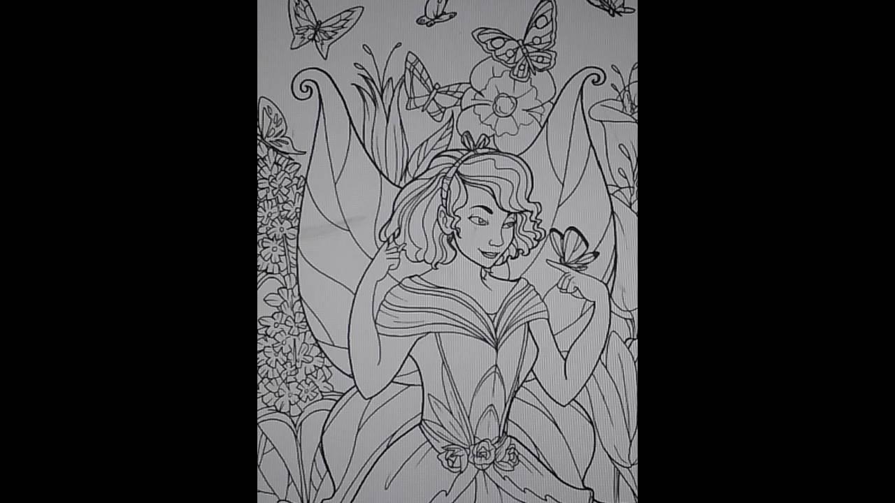 enchanted fairies coloring book - Fairies Coloring Book